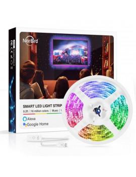 NITEBIRD SL1 Smart Wi-Fi-s RGB LED szalag 2,8m, zene és APP vezérlés