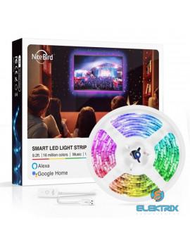 NITEBIRD SL1/2,8m/ 5V/1A/hangvezérlés/távoli vezérlés/ütemezés/zene és APP vezérlés/Smart Wi-Fi-s LED szalag