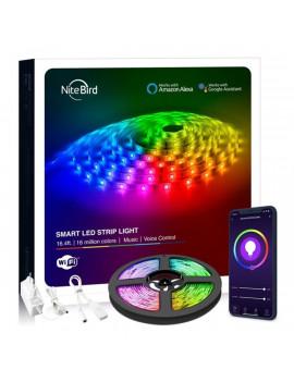 NITEBIRD SL3 Smart Wi-Fi-s RGB LED szalag 10m, zene és APP vezérlés