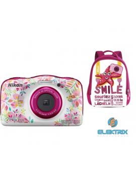Nikon Coolpix W150 virágos digitális fényképezőgép hátizsák kit