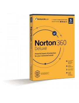 Norton 360 Deluxe 50GB HUN 1 Felhasználó 5 gép 1 éves dobozos vírusirtó szoftver