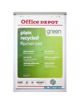 Office Depot 5 tömb újrahasznosított sima flipchart papír
