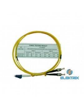 Optic 2m LC/UPC - ST/UPC SM 9/125 OS2 LSOH DLX Optikai Patch kábel