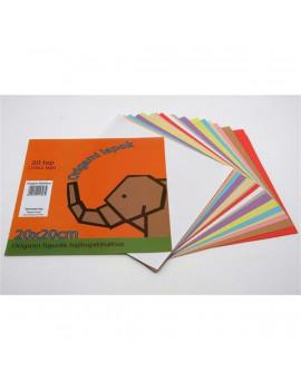 20x20cm 20lapos origami lapok