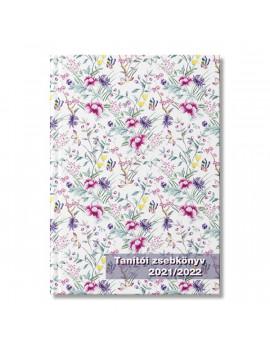 PD School Lovely Flowers 2021-2022 200 oldalas tanári zsebkönyv