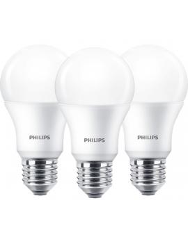 Philips LED gömb izzó 8W E27 A60 806 lumen meleg fehér 3 darab/csomag