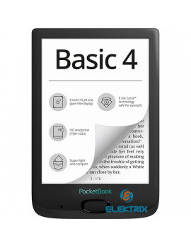 PocketBook PB606-E-WW Basic 4 fekete E-Book olvasó