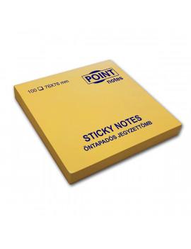 Point 76x76mm 100lapos sárga öntapadós jegyzettömb