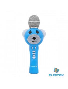 Promate RockStar-2 kék Bluetooth gyermekek karaoke mikrofon
