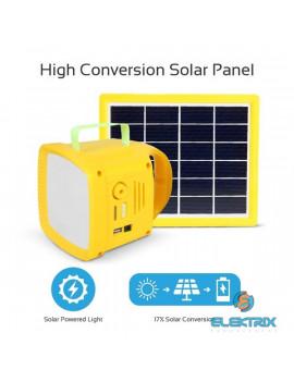 Promate SolarTorch-1 3 az 1-ben napelem és FM rádiós 4400 mAh powerbank lámpa kemping szett