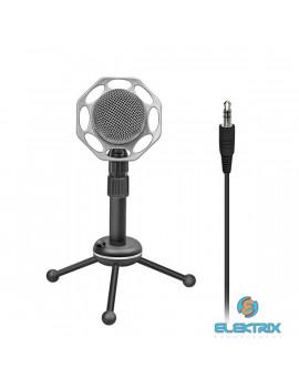 Promate Tweeter-8 Professional 3,5 mm jack asztali sztereó mikrofon