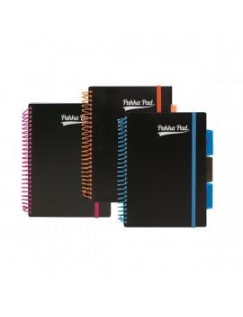 Pukka Pad Project Book Unipad Black A5 vonalas spirálfüzet