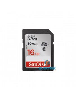 Sandisk 16GB SD ( SDHC Class 10) Ultra UHS-1 memória kártya