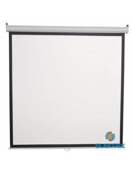 Sbox PSA-112 4:3 200x200 cm távirányítható matt fehér elektromos vetítővászon fekete kerettel