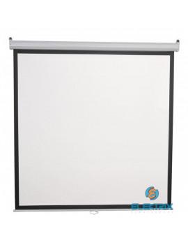 Sbox PSA-96 4:3 172x172 cm távirányítható matt fehér elektromos vetítővászon fekete kerettel
