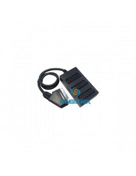 Sencor SCART Jack - 3× SCART aljzat, mini méret, 98×56×24 mm