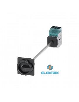 Siemens 3LD3248-0TK51 11kW szerelő lapra kivezetett hajtással fekete kar főkapcsoló