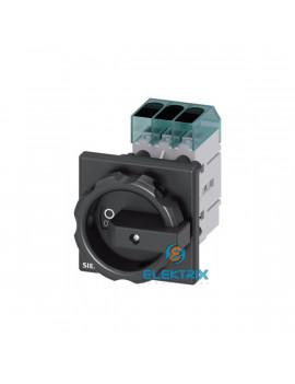 Siemens 3LD3254-0TK51 11kW panelre szerelhető fekete kar főkapcsoló