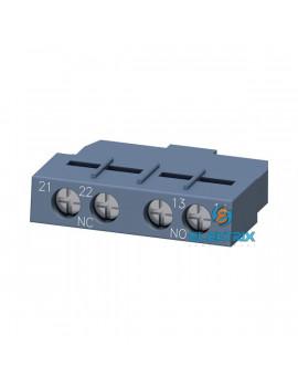 Siemens 3RV2901-1E motorvédő kapcsolóhoz 1NO + 1NC homloklapi segédérintkező