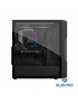 SilentiumPC Astrum AT6V TG Fekete (Táp nélküli) ablakos E-ATX ház