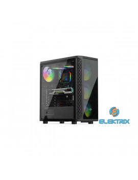 SilentiumPC Signum SG1X EVO TG ARGB Fekete (Táp nélküli) ablakos ATX ház