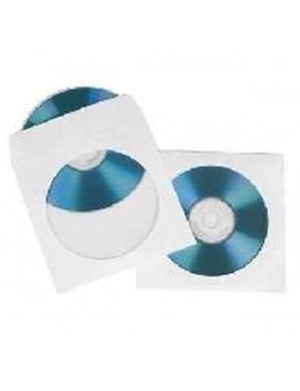 Silverline 100db/cs fehér papír CD tok