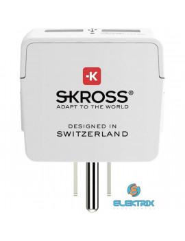 Skross beépített USB töltővel az Egyesült Államokba utazóknak csatlakozó átalakító