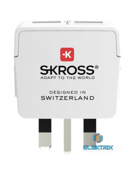 Skross beépített USB töltővel az Egyesült Királyságba utazóknak csatlakozó átalakító