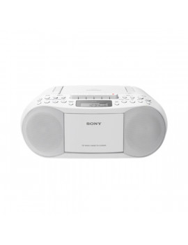 Sony CFDS70W fehér hordozható kazettás CD-s rádió