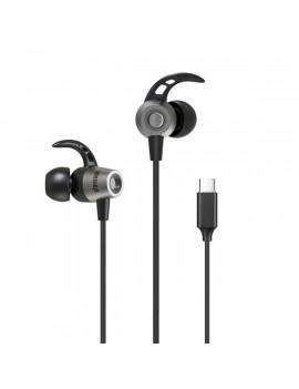Stansson HE-105-BL USB Type-C fekete fülhallgató