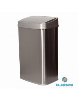 TOO 50 literes rozsdamentes acél szenzoros szemetes - szürke fedővel