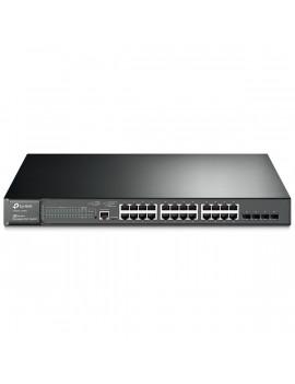TP-Link T2600G-28MPS 24port GbE LAN PoE+ (320W) 4 combo GbE RJ45/SFP menedzselhető Switch