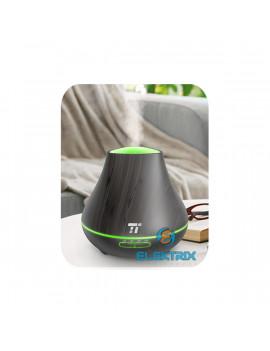 Taotronics TT-AD004 sötétbarna fa mintázatú ultrahangos illóolaj párásító LED fénnyel