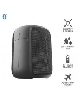 Trust Caro Compact vezeték nélküli Bluetooth fekete hangszóró