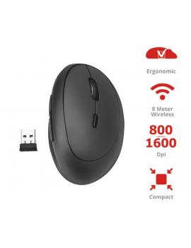 Trust Orbo Compact vezeték nélküli ergonómikus fekete egér