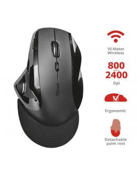 Trust Vergo vezeték nélküli ergonómikus fekete egér