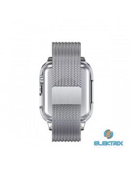 USAMS ZB68IW2 mágneses 44mm ezüst Apple Watch szíj és tok