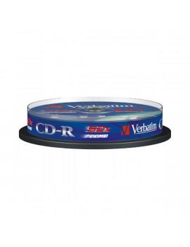VERBATIM CDV7052B10DL CD-R DataLife cake box CD lemez 10db/csomag