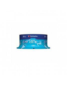 VERBATIM CDV7052B25  CD-R  Crystal cake box CD lemez 25db/csomag