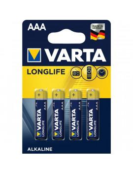 Varta 4103101414 Longlife AAA alkáli mikro ceruza elem 4db/bliszter