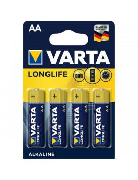 Varta 4106101414 Longlife  AA alkáli ceruza elem 4db/bliszter