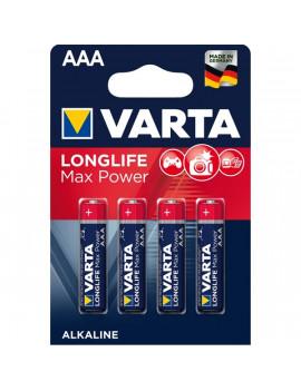 Varta 4703101404 Max Tech AAA alkáli mikro ceruza elem 4db/bliszter