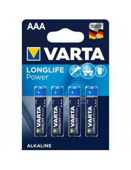 Varta 4903121414 Longlife Power AAA (LR03) alkáli mikro ceruza elem 4db/bliszter
