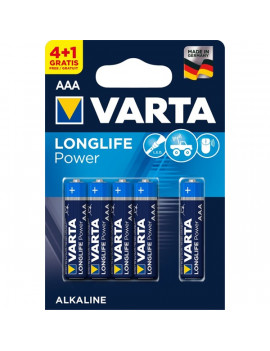 Varta 4903121415 Longlife Power AAA (LR03) alkáli mikro ceruza elem 4+1db/bliszter