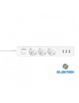 Xiaomi Mi Power Strip 3x USB-s 3 csatlakozós túlfeszültségvédő