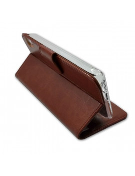 XtremeMac Book Case iPhone 6 Plus barna bőr pénztárca tok