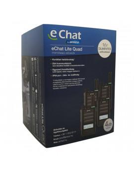 eChat Lite Quad E350 internetalapú 1 év díjmentes előfizetéssel 4db-os adóvevő csomag